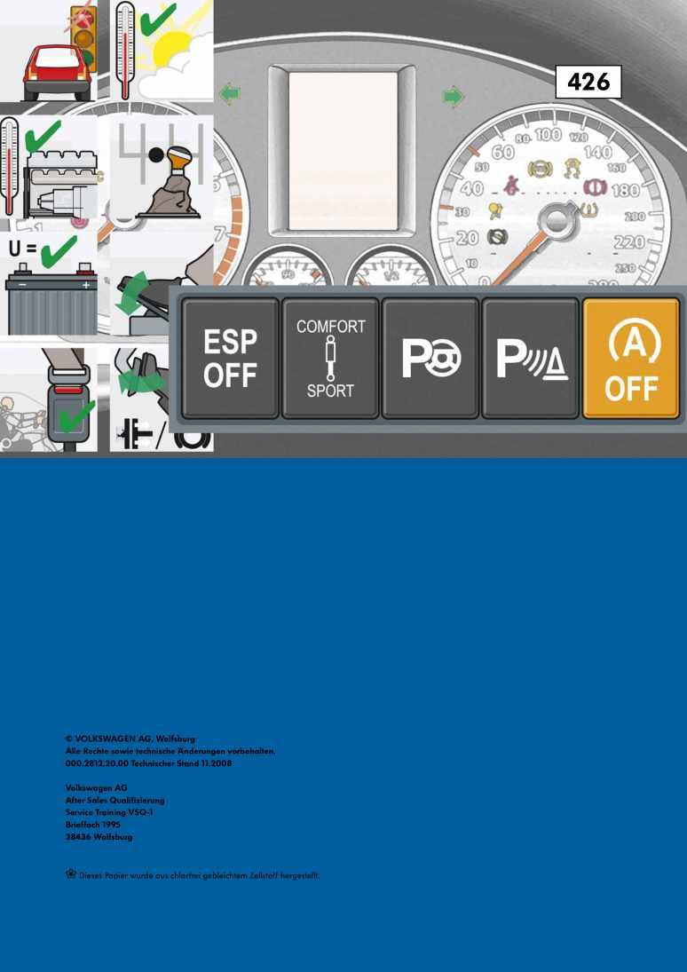 Beispielseite für Reparaturanleitung Nr. 426: Die Start-Stopp-Anlage 2009