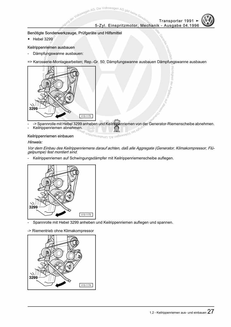 Beispielseite für Reparaturanleitung 5-Zyl. Einspritzmotor, Mechanik