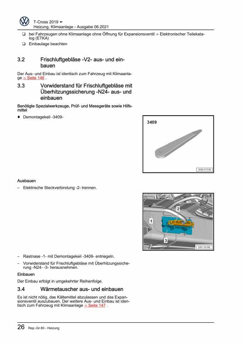 Beispielseite 2 für Reparaturanleitung Heizung, Klimaanlage