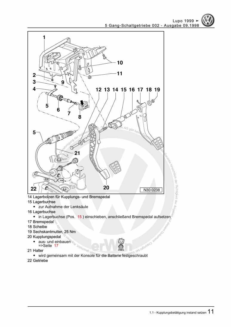 Beispielseite für Reparaturanleitung 5 Gang-Schaltgetriebe 002