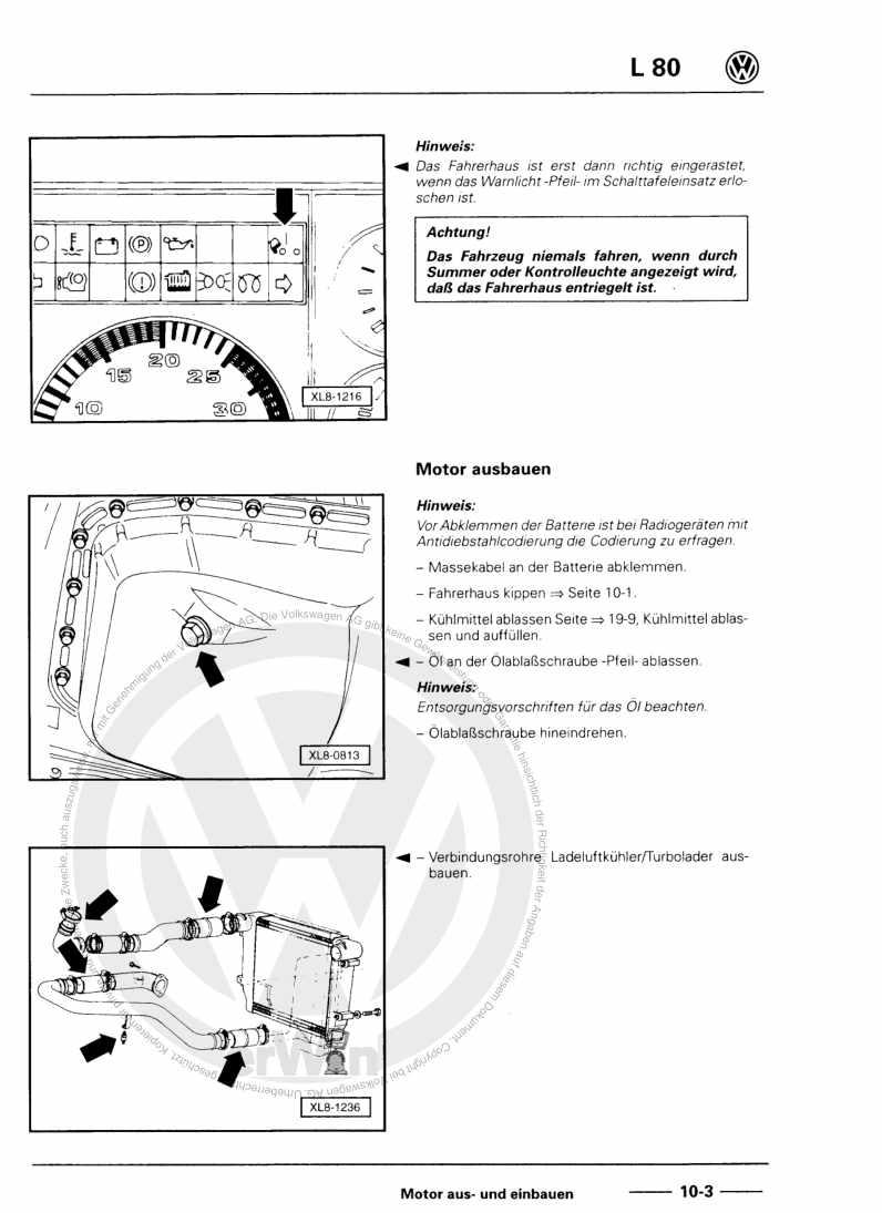 Beispielseite für Reparaturanleitung 4-Zyl. Dieselmotor, Mechanik AGF