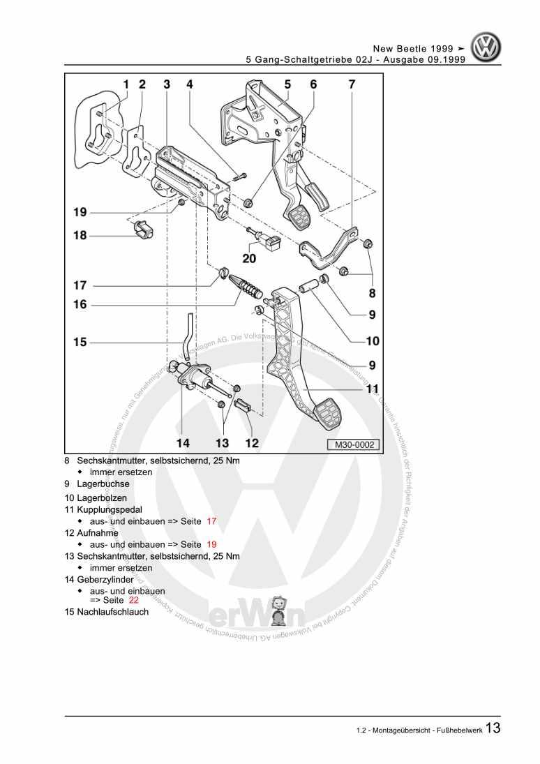 Beispielseite für Reparaturanleitung 5 Gang-Schaltgetriebe 02J