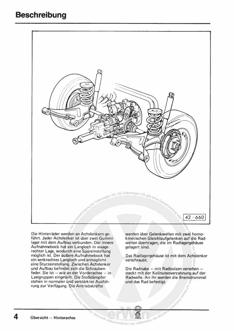 Beispielseite für Reparaturanleitung Fahrwerk Allradantrieb