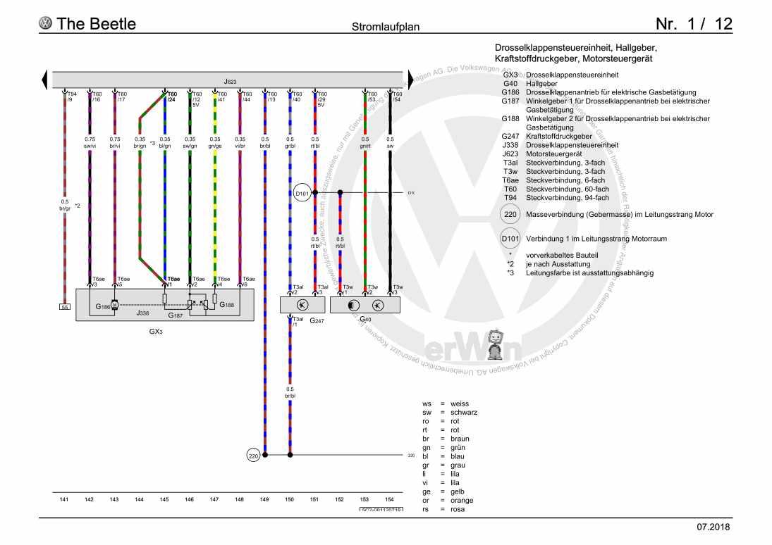 Beispielseite für Reparaturanleitung 1,2-l-Benzinmotor, CBZB, ab Juli 2016