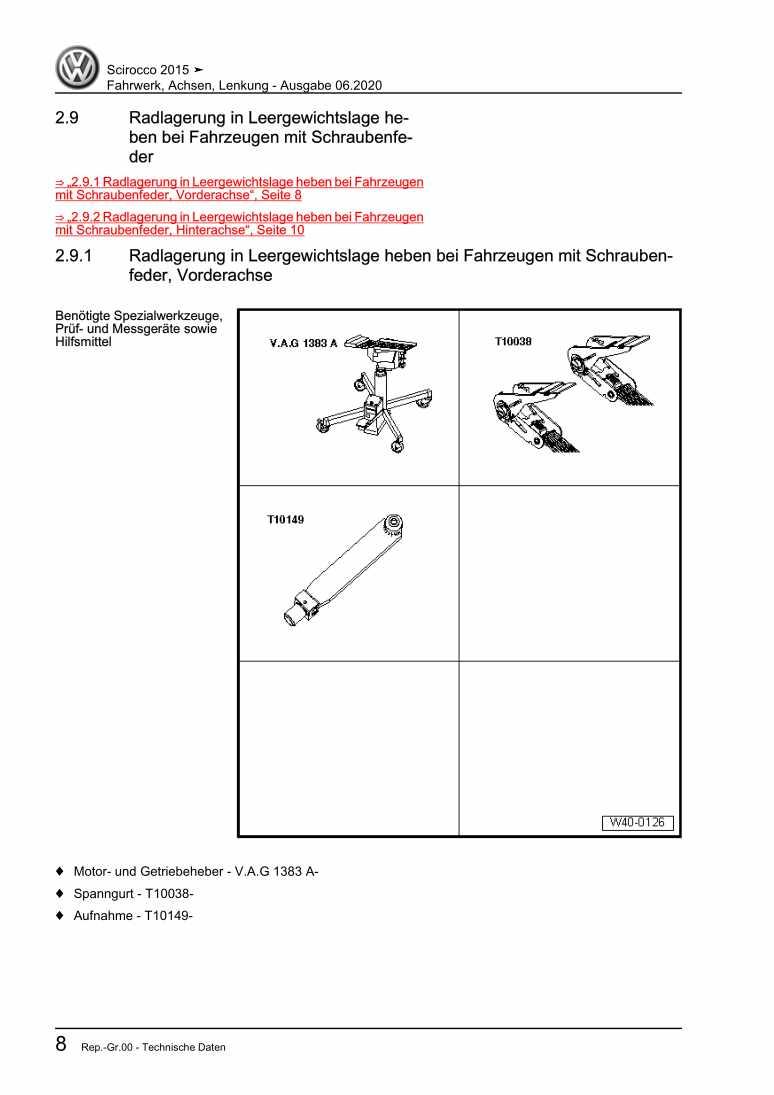 Beispielseite 2 für Reparaturanleitung Fahrwerk, Achsen, Lenkung