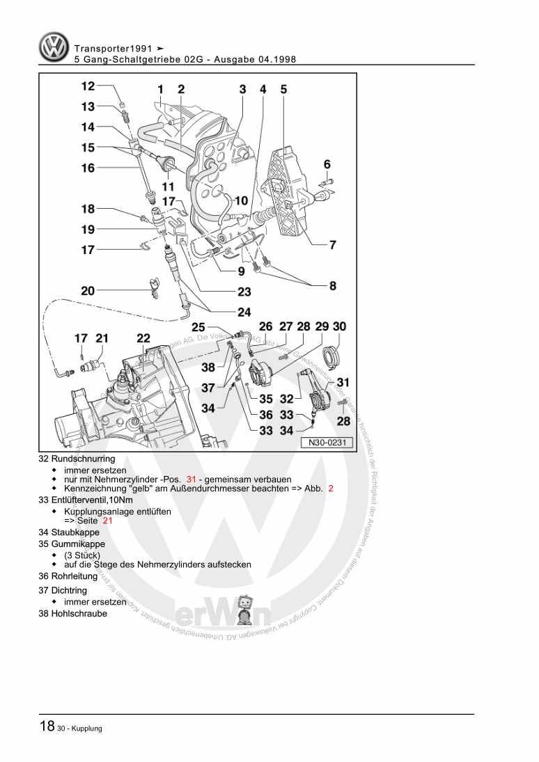 Beispielseite für Reparaturanleitung 5 Gang-Schaltgetriebe 02G