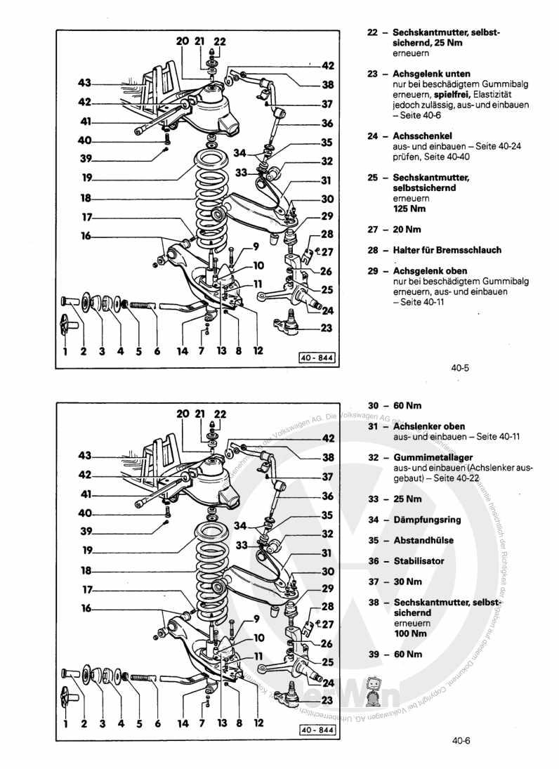 Beispielseite für Reparaturanleitung Fahrwerk LT 28/31/35