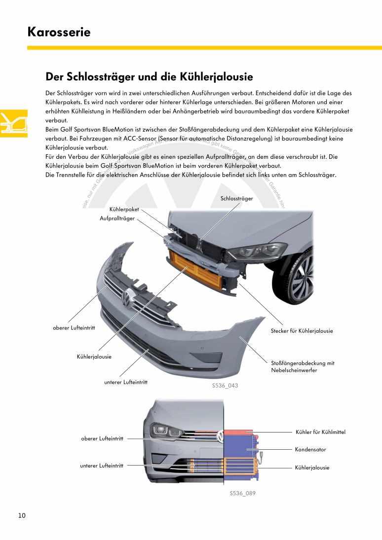 Beispielseite für Reparaturanleitung Nr. 536: Der Golf Sportsvan