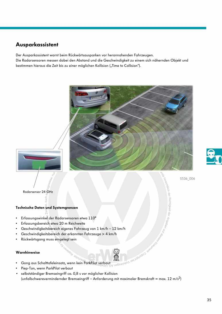 Beispielseite 2 für Reparaturanleitung Nr. 536: Der Golf Sportsvan