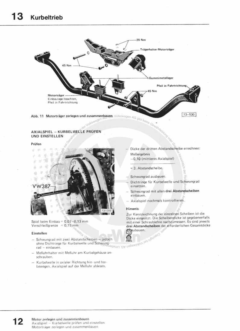 Beispielseite für Reparaturanleitung 1,6-l-Vergasermotor CT,CZ