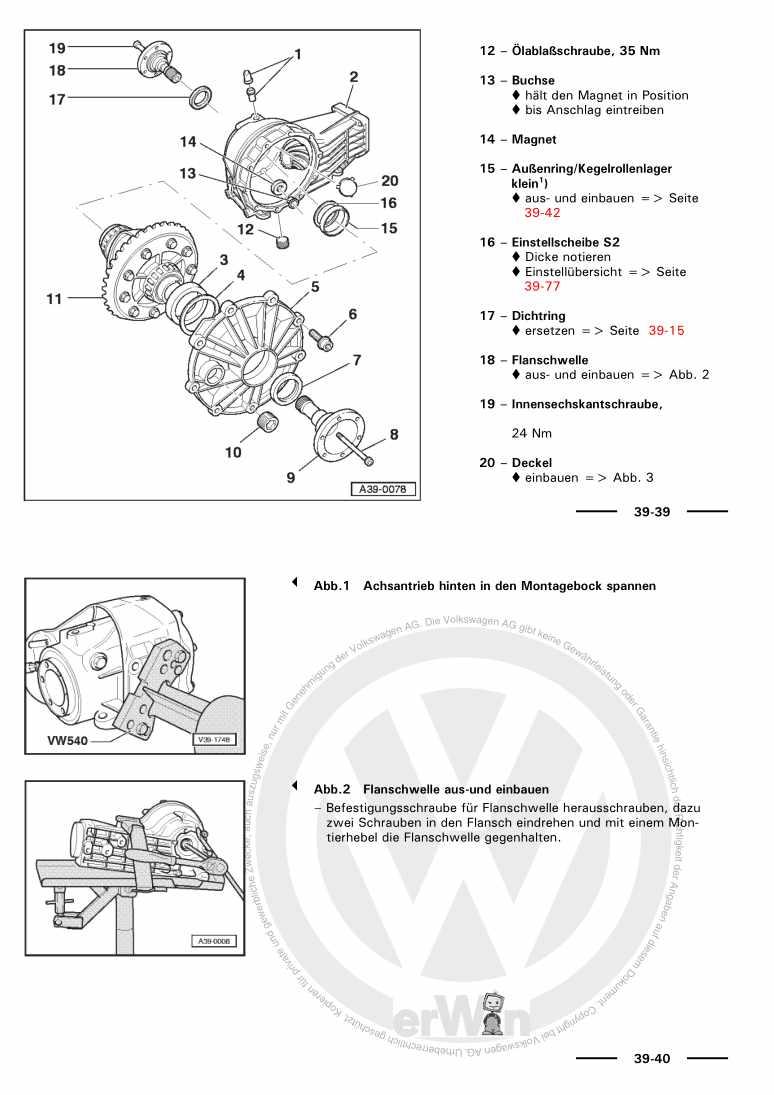 Beispielseite für Reparaturanleitung 6-Gang-Schaltgetriebe 01E Allradantrieb/Achsantrieb