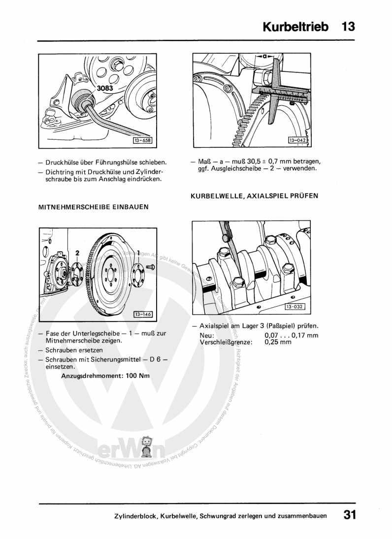 Beispielseite für Reparaturanleitung 1,3-, 1,6- und 1,8-l-Vergasermotor, Mechanik DS,DT,EP,JU,JV,PP,RL,RM,WP,WV,WY,YN,YP,YY