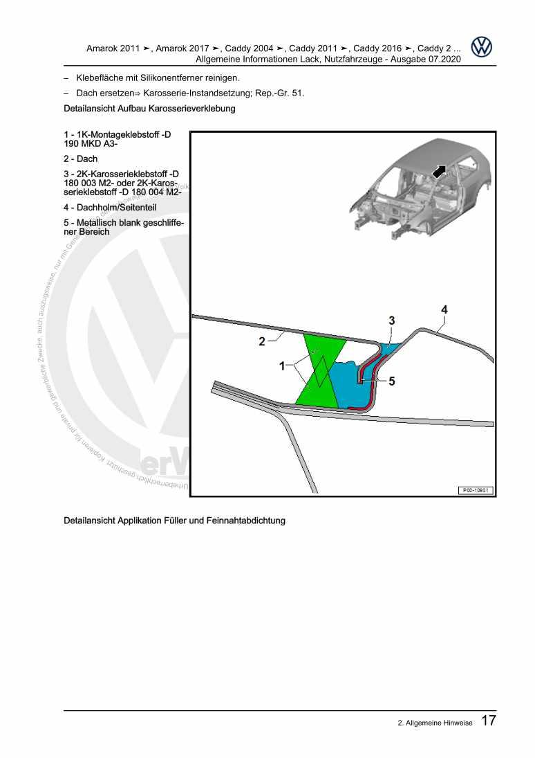 Beispielseite 2 für Reparaturanleitung Allgemeine Informationen Lack Nutzfahrzeuge