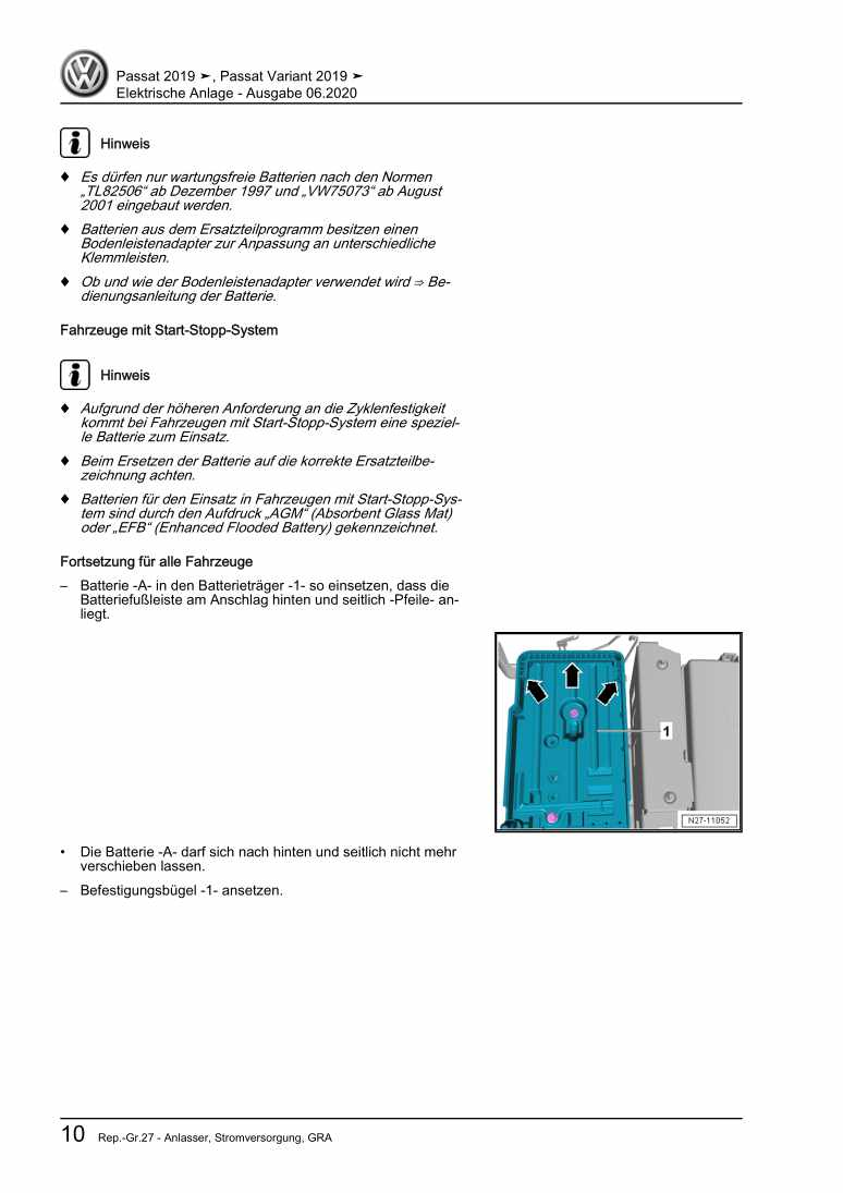 Beispielseite für Reparaturanleitung Elektrische Anlage