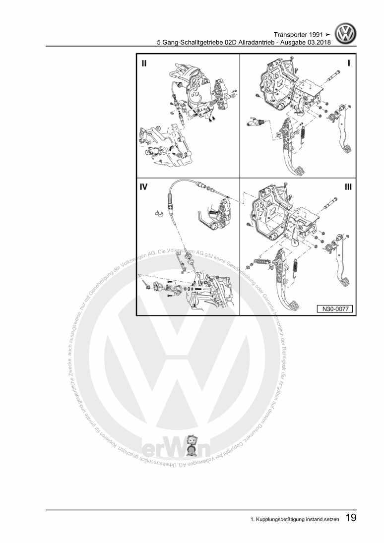 Beispielseite für Reparaturanleitung 5 Gang-Schalltgetriebe 02D Allradantrieb