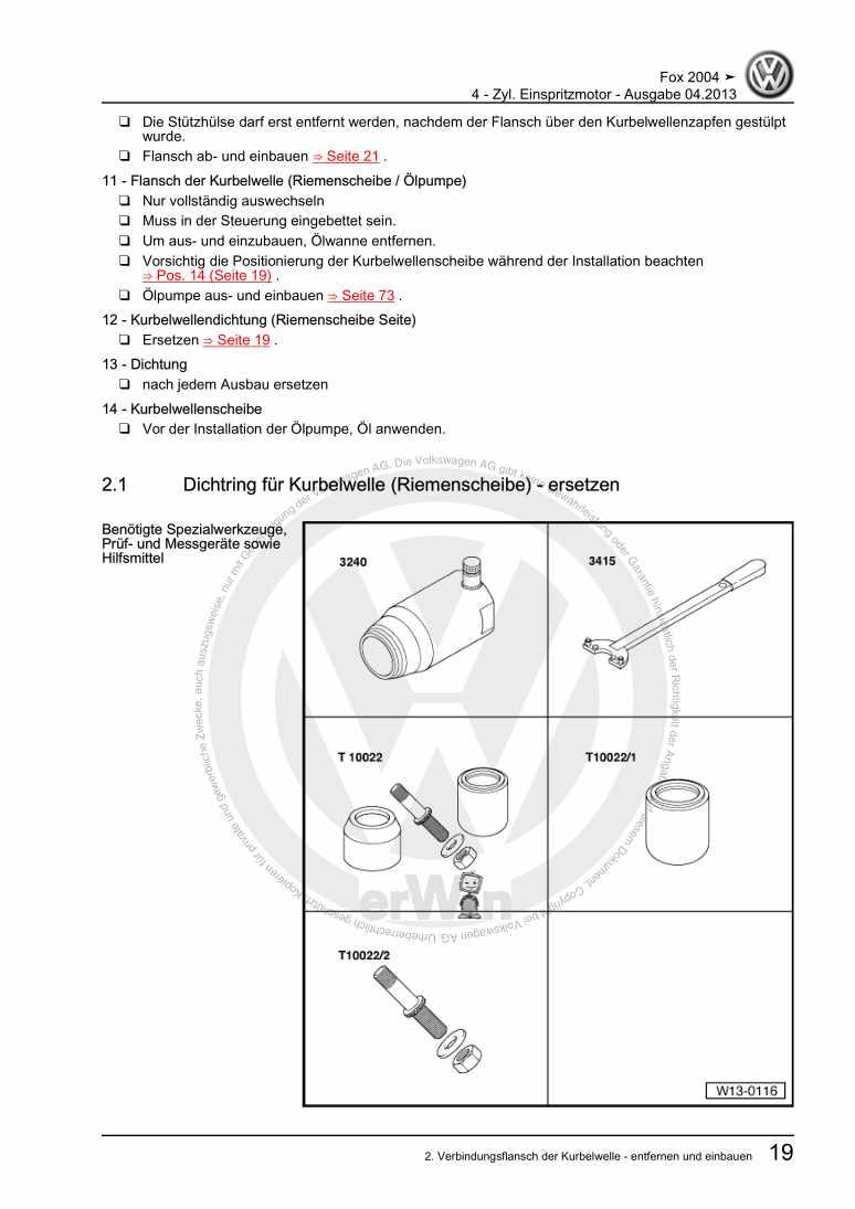 Beispielseite 2 für Reparaturanleitung 4 - Zyl. Einspritzmotor