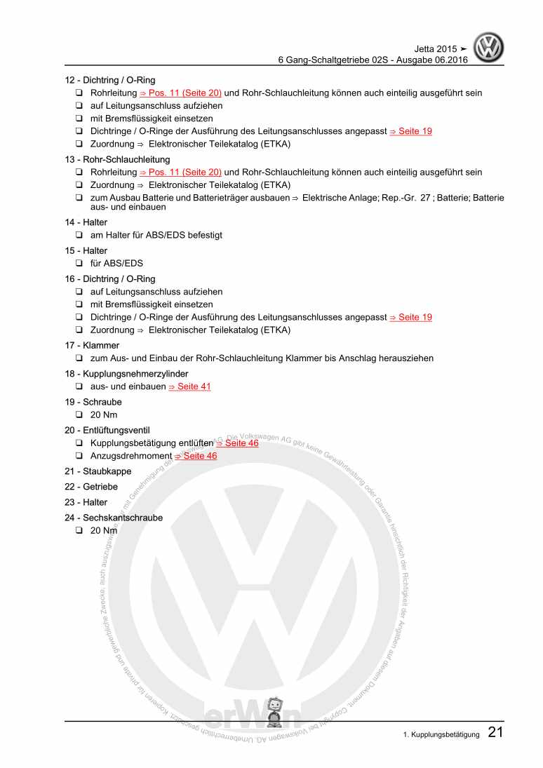 Beispielseite für Reparaturanleitung 6 Gang-Schaltgetriebe 02S