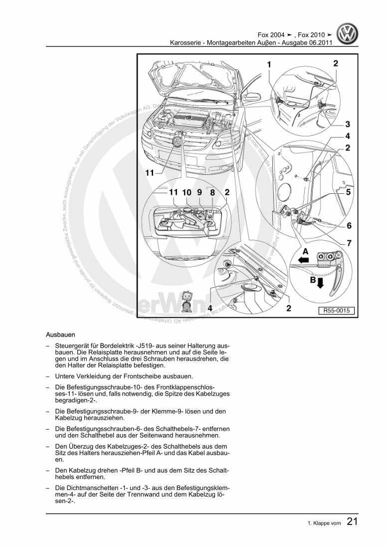 Beispielseite 2 für Reparaturanleitung Karosserie - Montagearbeiten Auβen