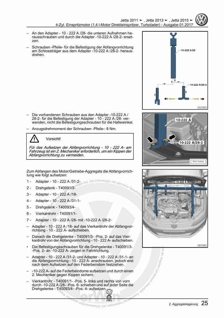 Beispielseite für Reparaturanleitung 4-Zyl. Einspritzmotor (1,4 l-Motor Direkteinspritzer, Turbolader)