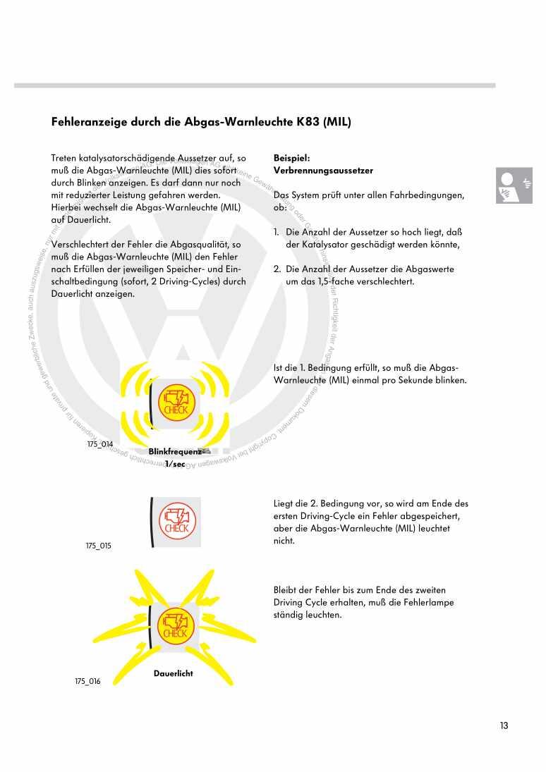 Beispielseite 2 für Reparaturanleitung Nr. 175: On-Board-Diagnose II im New Beetle (USA)