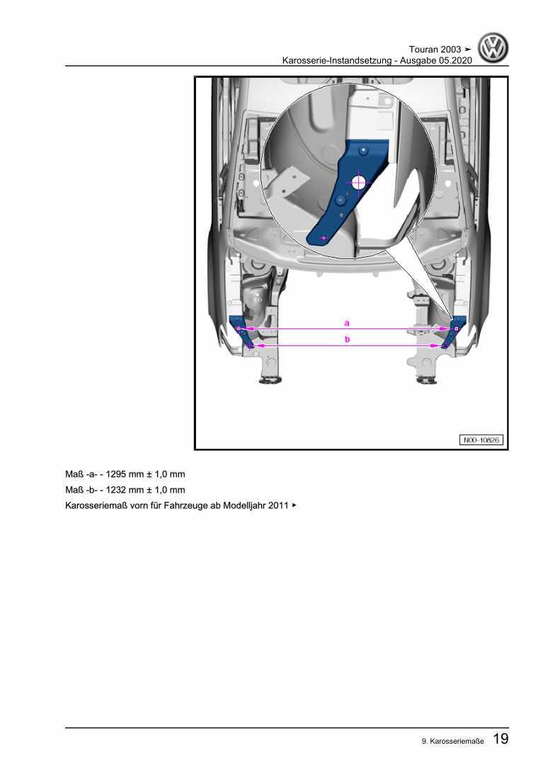 Beispielseite für Reparaturanleitung Karosserie-Instandsetzung