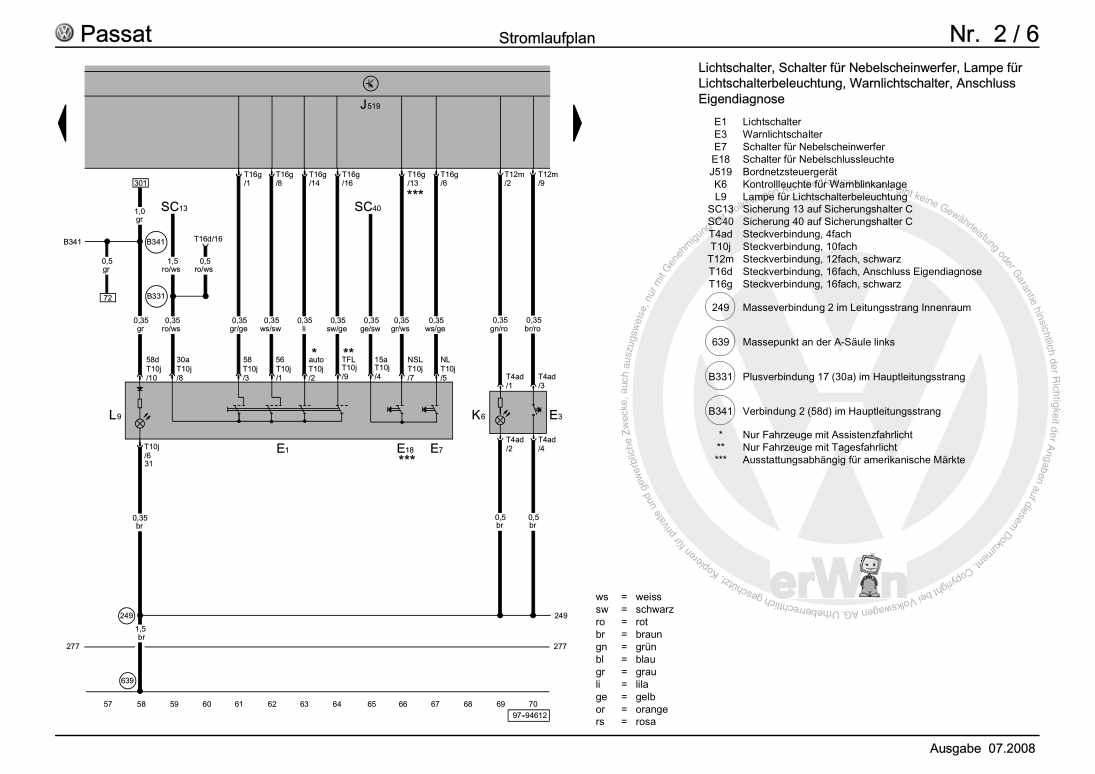 Beispielseite für Reparaturanleitung Climatronic, ab November 2004