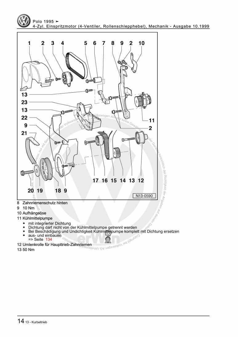 Beispielseite für Reparaturanleitung 4-Zyl. Einspritzmotor (4-Ventiler, Rollenschlepphebel), Mechanik