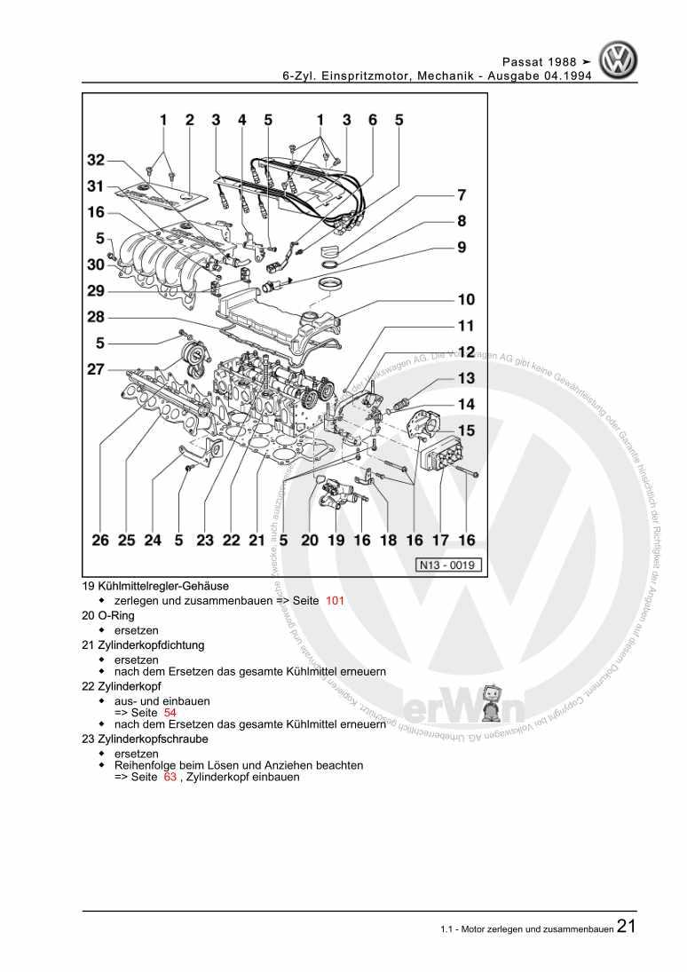 Beispielseite für Reparaturanleitung 6-Zyl. Einspritzmotor, Mechanik