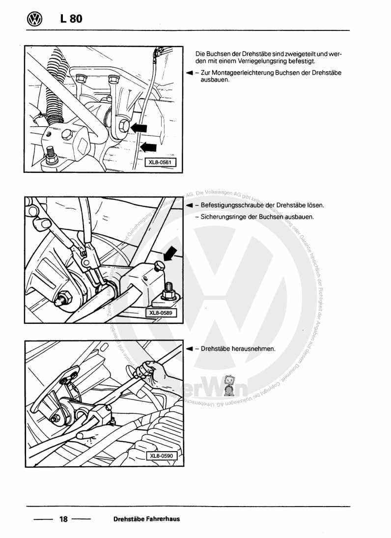 Beispielseite für Reparaturanleitung Karosserie-Montagearbeiten Fahrerhaus und Rahmen