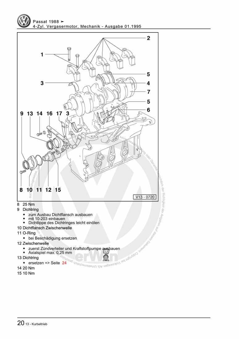 Beispielseite 2 für Reparaturanleitung 4-Zyl. Vergasermotor, Mechanik