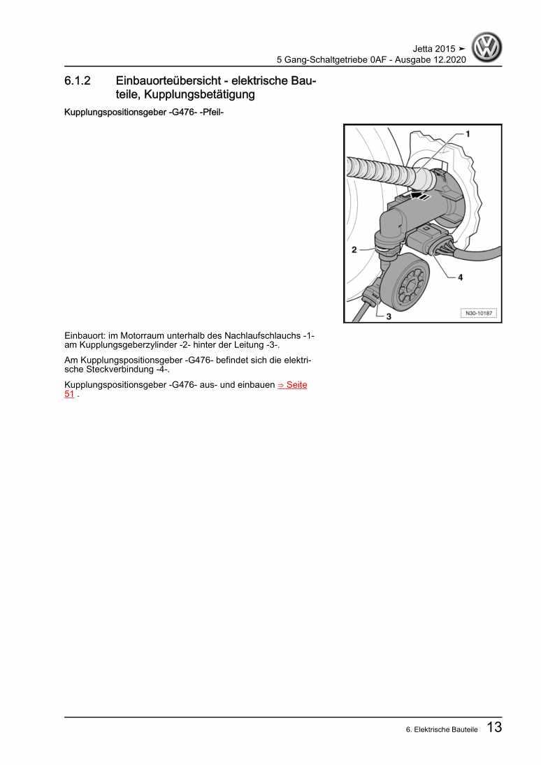 Beispielseite für Reparaturanleitung 5 Gang-Schaltgetriebe 0AF