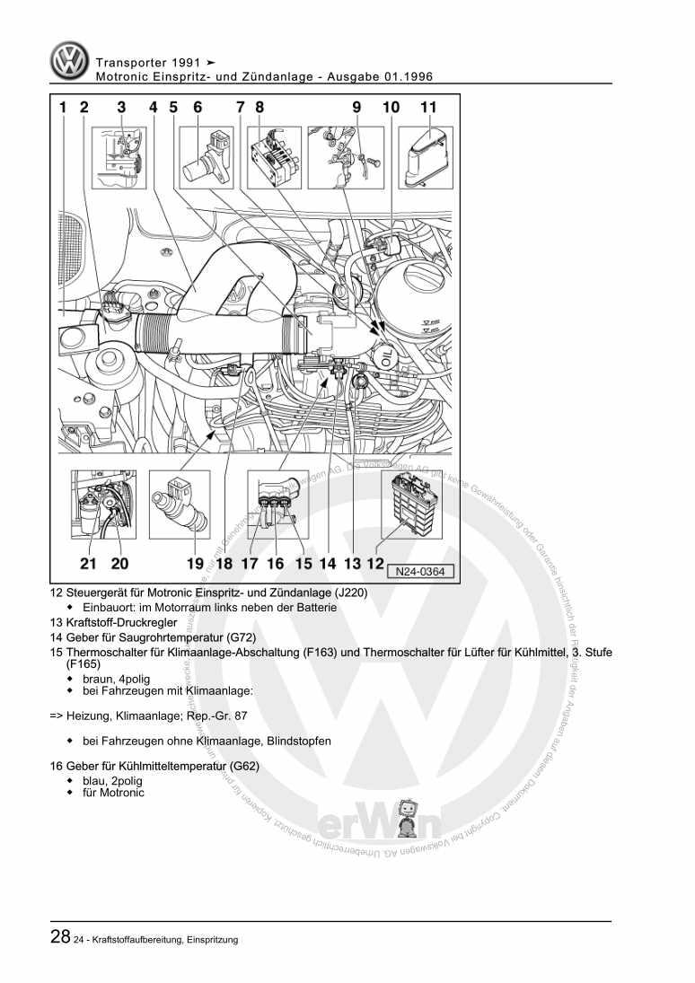Beispielseite für Reparaturanleitung Motronic Einspritz- und Zündanlage