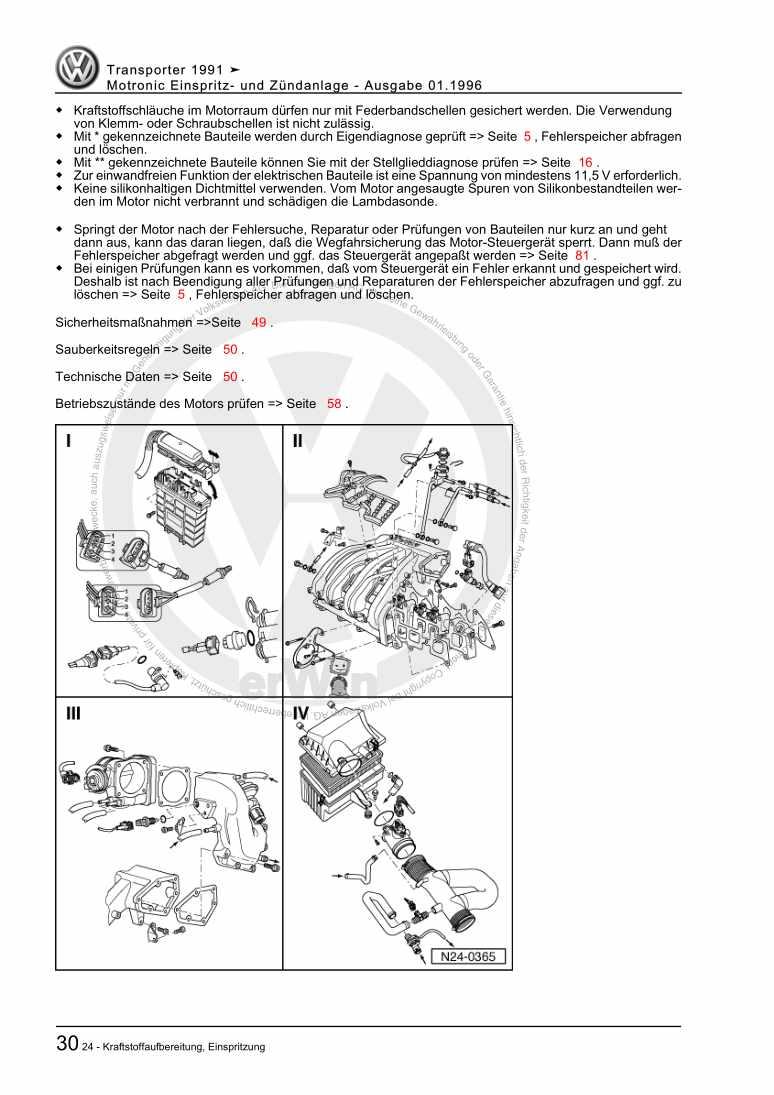 Beispielseite 2 für Reparaturanleitung Motronic Einspritz- und Zündanlage