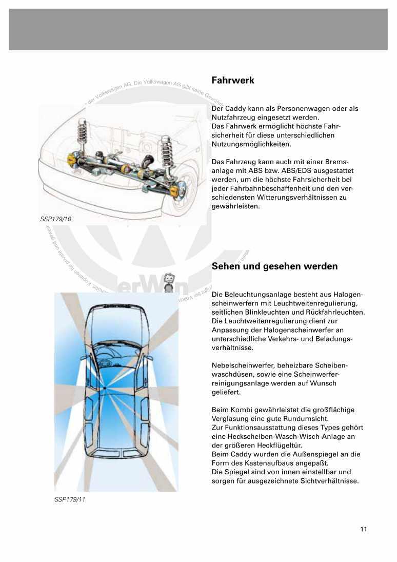 Beispielseite 2 für Reparaturanleitung Nr. 179: Caddy