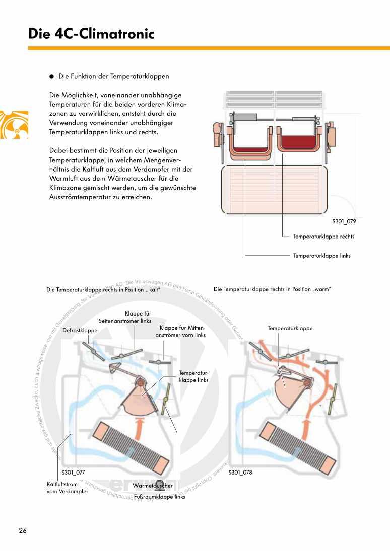 Beispielseite 2 für Reparaturanleitung Nr. 301: Der Touareg - Heizung und Klimaanlage