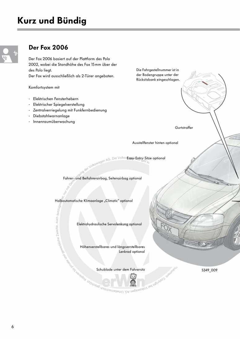 Beispielseite für Reparaturanleitung Nr. 349: Der Fox 2006