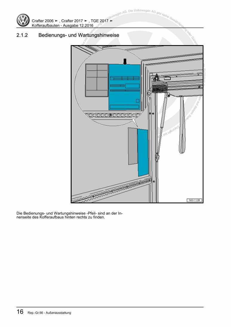 Beispielseite 2 für Reparaturanleitung Kofferaufbauten