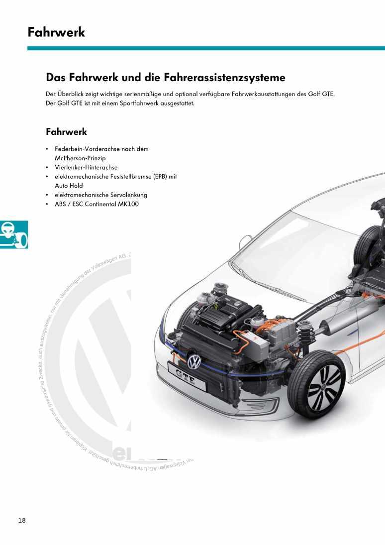 Beispielseite für Reparaturanleitung Nr. 537: Der Golf GTE