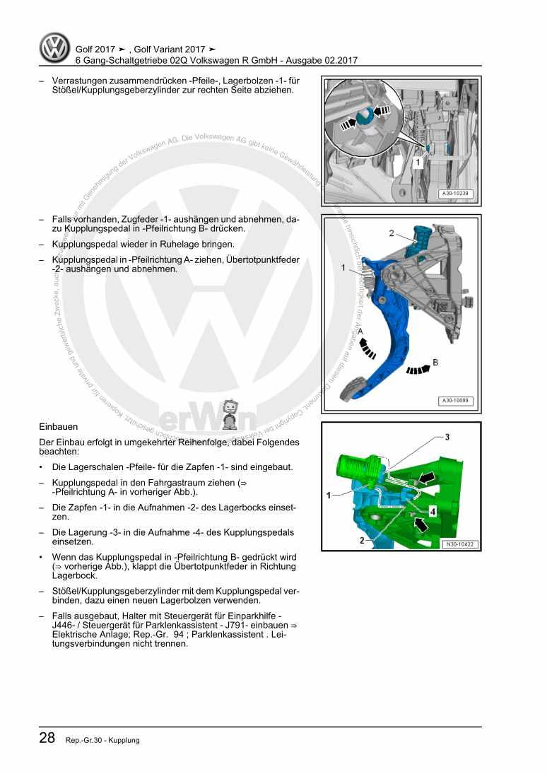 Beispielseite für Reparaturanleitung 6 Gang-Schaltgetriebe 02Q Volkswagen R GmbH