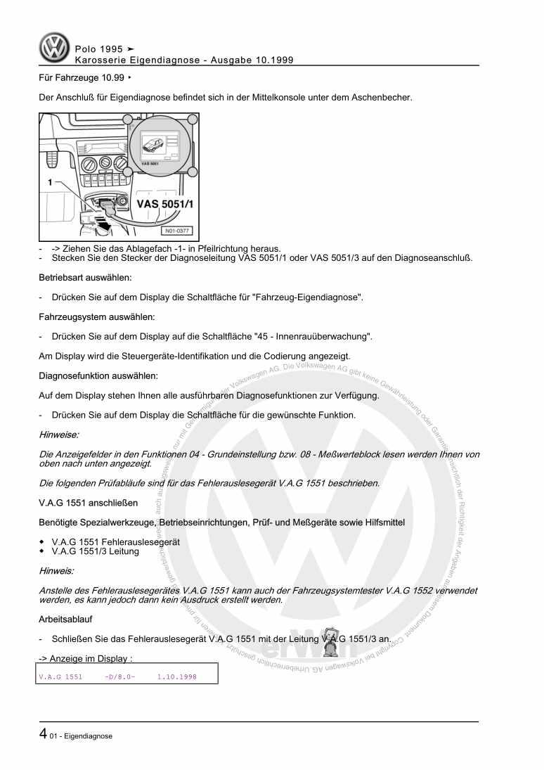 Beispielseite 2 für Reparaturanleitung Karosserie Eigendiagnose