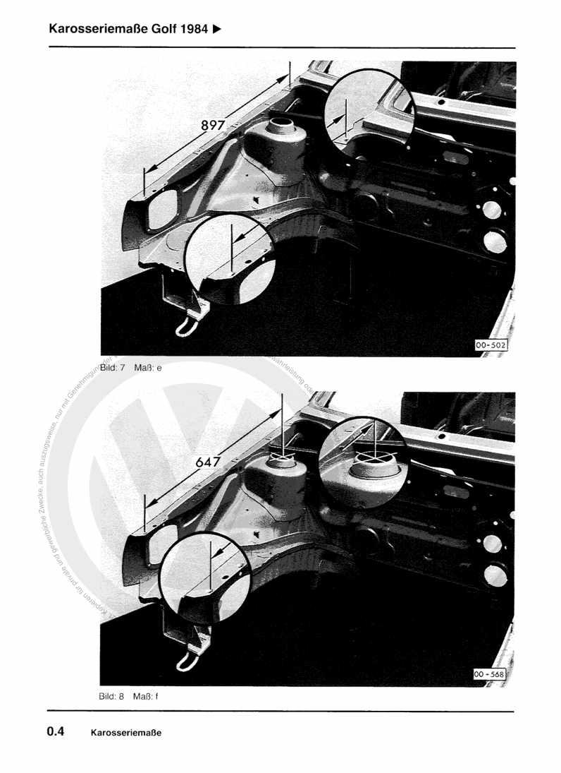 Beispielseite für Reparaturanleitung Karosserie Instandsetzung
