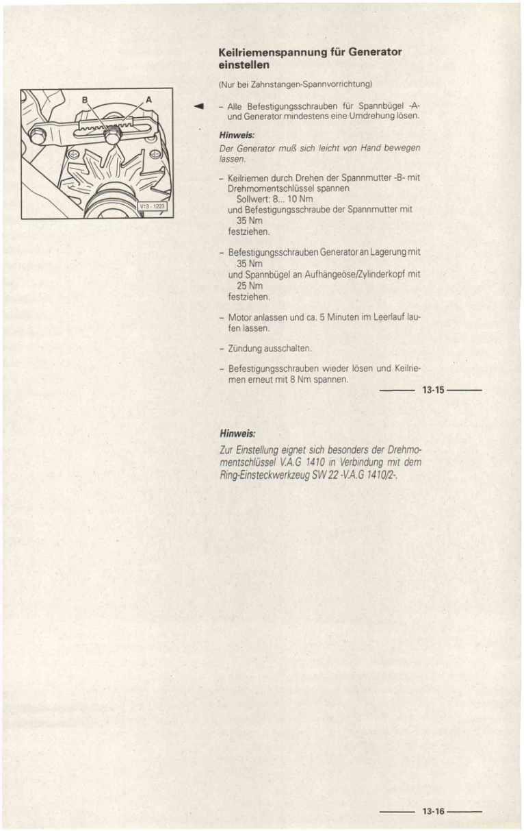 Beispielseite für Reparaturanleitung Vergasermotor 1,8 l-Motor ADF / 026.2