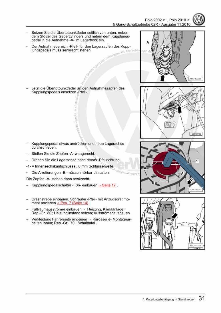 Beispielseite 2 für Reparaturanleitung 5 Gang-Schaltgetriebe 02R