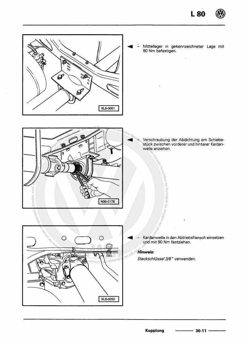 Beispielseite für Reparaturanleitung Kupplung