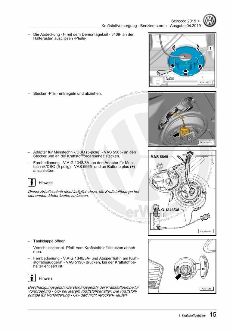 Beispielseite 2 für Reparaturanleitung Kraftstoffversorgung - Benzinmotoren