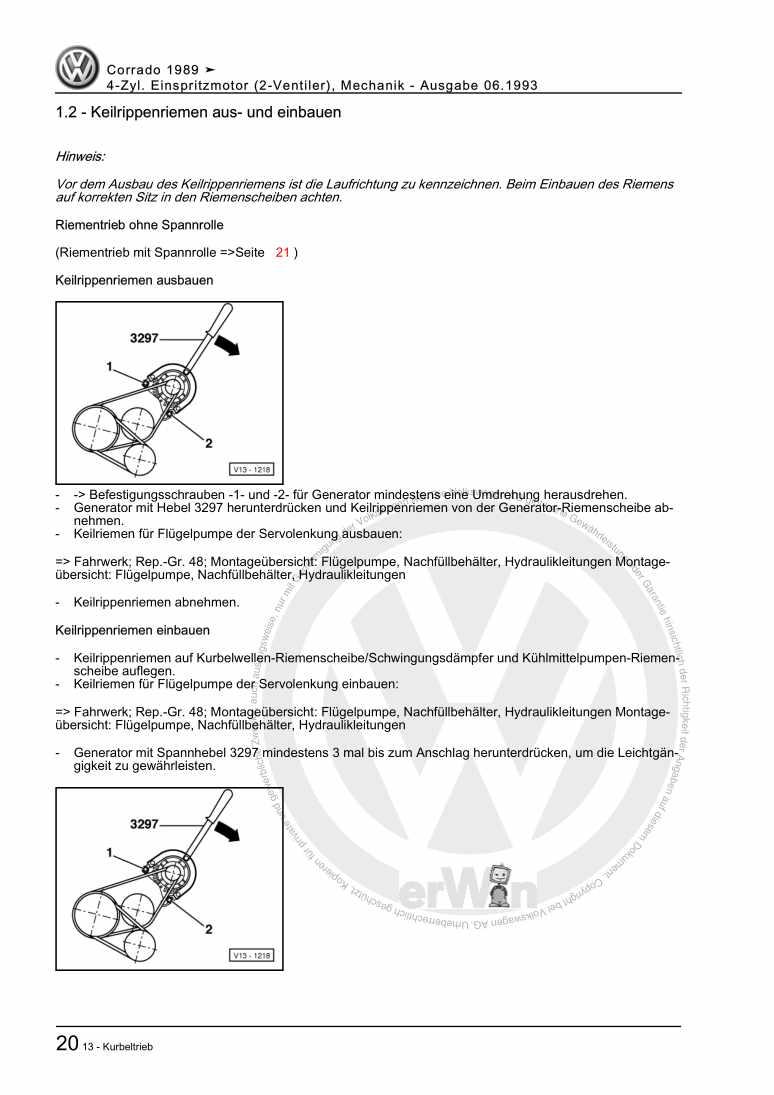 Beispielseite 2 für Reparaturanleitung 4-Zyl. Einspritzmotor (2-Ventiler), Mechanik