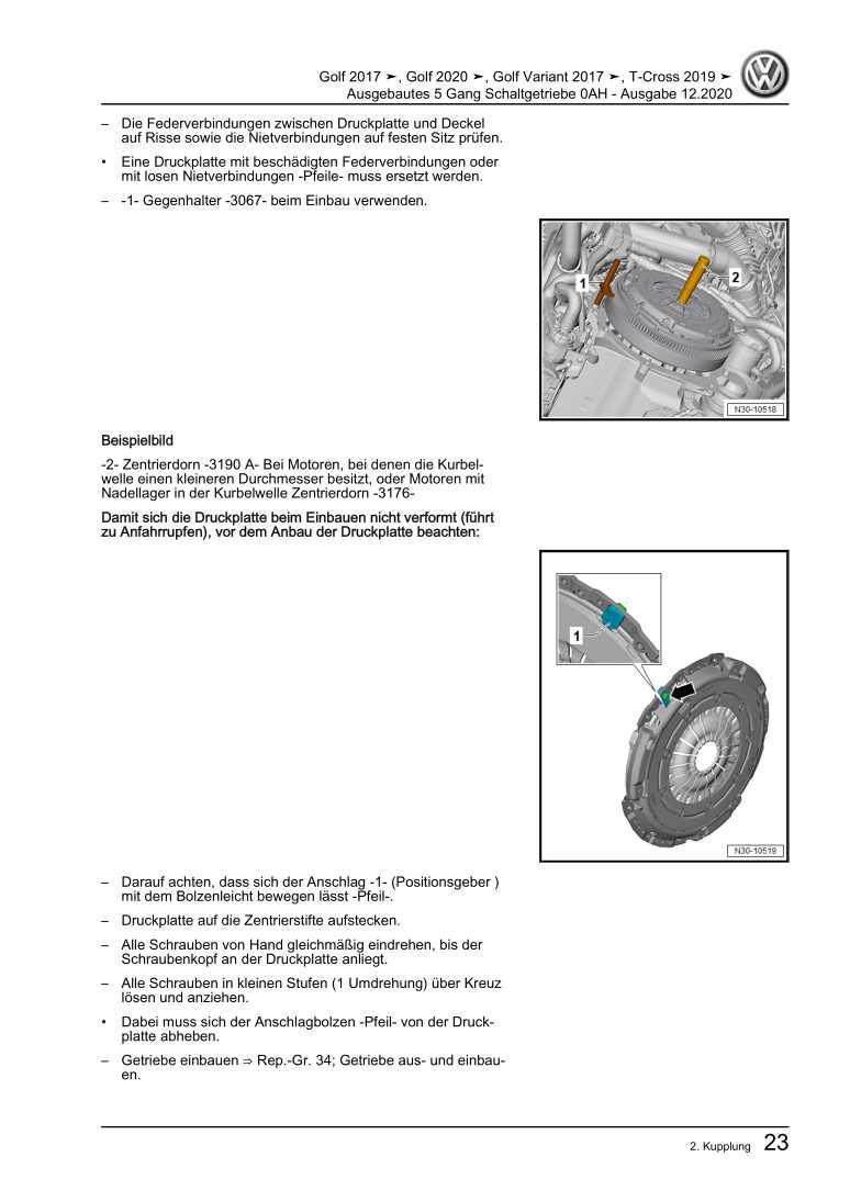 Beispielseite für Reparaturanleitung Ausgebautes 5 Gang Schaltgetriebe 0AH