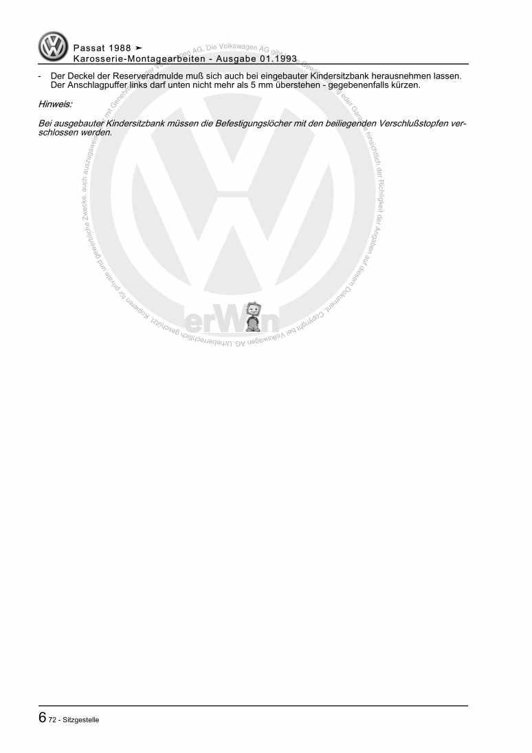 Beispielseite 2 für Reparaturanleitung Karosserie-Montagearbeiten