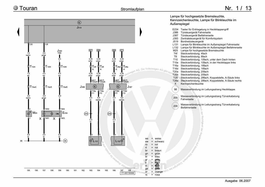 Beispielseite 2 für Reparaturanleitung Grundausstattung, Nebelscheinwerfer, Statische Leuchtweitenregelung, ab Februar 2003