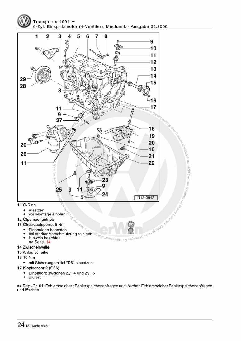 Beispielseite für Reparaturanleitung 6-Zyl. Einspritzmotor (4-Ventiler), Mechanik